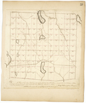 Page 59.  A Plan of Township 3 Range 4 West from the East line of the State, as surveyed into section in fall of 1833 by Thomas Sawyer, Jr. and subdivided into Lots by the subscriber in 1842.