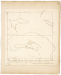 Page 62.  Plan of Township 7 in the 8th Range WELS as divided by the subscriber in autumn of 1849 Per Order of the Land Agent of Maine.
