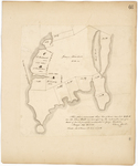 Page 66.  This plan represents three lots of land marked A, B, and C on the Isle of Holt as surveyed by the subscriber out of a tract of land formerly contracted to George Kimball.