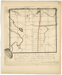 Page 73.  A Plan of Township 8 in the 5th Range of Townships west from the east line of the State, as surveyed A.D. 1833 into mile sections by Rufus Gilmore, Esq. and as resurveyed A.D. 1839 into lots for settling, and protracted on a scale of 40 chains to an inch.