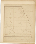Page 75.  Plan of Township 4 Range 13 WELS representing the Lots located agreeably to Resolve passed April 4, 1859