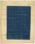 Page 01.5. Blueprint of Township 4 ND and Strip North of this Township, 1924 by Noah Barker and Earl Spaulding