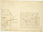 Page 03. A Plan of Orient copied from the survey Joseph Norris made in 1828; A Plan of the southerly part of township numbered eight in the second range of townships north of Bingham's Penobscot purchase, 1831 by Zebulon Bradley, Daniel Rose, and Joseph Norris