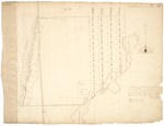 Page 03. This plan represents River Township No. 2 East side of Penobscot River with the lots laid out on said river and also two timber lots by Andrew McMillen and George H. Moore