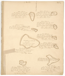 Page 05. Plan of Stove, Diane, Eaton, Head, Tent, Bradbury, Partridge, Hog, and Western Islands, 1785 by Rufus Putnam and John Peters