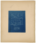 Page 06.5. Blueprint of Township 8 Range 9, 1918 by Lincoln Pulpwood Company Forestry Department