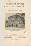 State of Maine Publicity Bureau Annual Report - 1924