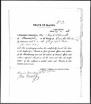 Land Grant Application- Coombs, Joseph (Brunswick)