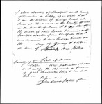 Land Grant Application- Couch, George (Readfield)