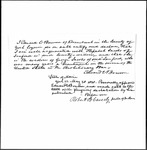 Land Grant Application- Jacobs, George (Sanford)