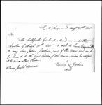 Land Grant Application- Jordan, Hezekiah (Raymond)