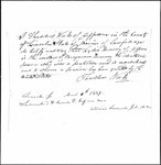 Land Grant Application- Kenney, Benjamin (Jefferson)