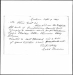 Land Grant Application- Plaisted, John (Standish)