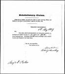 Land Grant Application- Porter, Benjamin (Camden)
