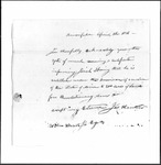 Land Grant Application- Spring, Josiah (Brownfield)