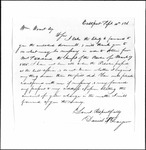 Land Grant Application- Stoddard, Nathaniel (Perry)