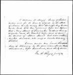 Land Grant Application- Strout, Isaac (Limington)
