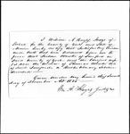 Land Grant Application- Worster, Thomas (Sanford)