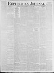 Republican Journal: Vol. 53, No. 30 - July 28,1881