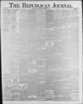 Republican Journal: Vol. 59, No. 38 - September 22,1887