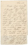Letter to Mother from Falmouth, Virginia, December 23, 1862
