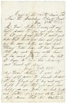 Letter to Mother from Jerusalem Plank Road, December 31, 1864