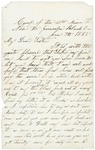 Letter to sister Helen from Jerusalem Plank Road, January 7, 1865 by Sylvester Baker