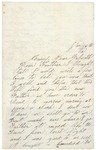 Letter to Father, January 16, 1864 by Sylvester Baker
