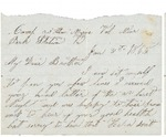 Letter to brother Colum, January 31, 1865