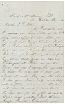 Letter to sister, March 8, 1865 by Sylvester Baker