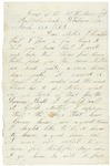 Letter to parents from Falmouth, Virginia, March 27, 1863
