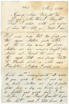 Letter to Mother from Falmouth, Virginia, May 27, 1863