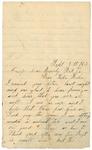 Letter to sister Helen, September 5, 1863