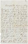 Letter to sister, September 21, 1862