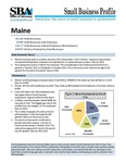 Small Business Profiles for the States and Territories, Maine, 2015
