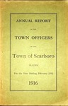 Scarboro Annual Report - 1916 by Town of Scarborough, Maine