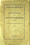 Scarborough Annual Report - 1921 by Town of Scarborough, Maine