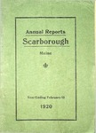 Scarborough Annual Reports - 1920