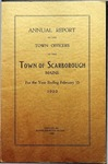Scarborough Annual Report - 1923 by Town of Scarborough, Maine