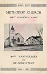 Methodist Church - West Scarboro - 150th Anniversary - 1802-1952