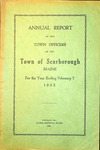 Scarborough Annual Report - 1925 by Town of Scarborough, Maine