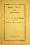 Scarborough Annual Report - 1926 by Town of Scarborough, Maine