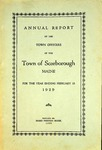 Scarborough Annual Report - 1929 by Town of Scarborough, Maine