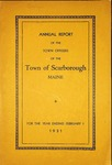 Scarborough Annual Report - 1931 by Town of Scarborough