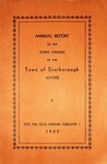Scarborough Annual Report - 1932 by Town of Scarborough