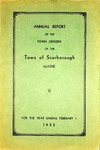 Scarborough Annual Report - 1933 by Town of Scarborough