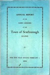 Scarborough Annual Report - 1934 by Town of Scarborough