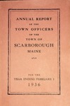Scarborough Town Report - 1936 by Town of Scarborough