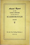 Scarborough Annual Report - 1953 by Town of Scarborough