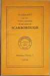 Warrant for Scarborough - 1957